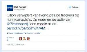 Parool tweet