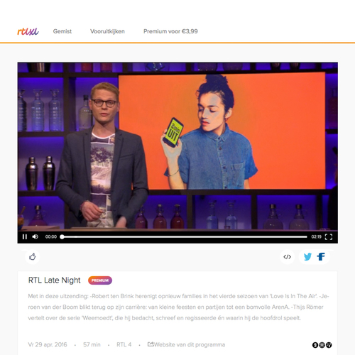Apart from DWDD, we got RTL Late Night and Koffietijd mentioning our initiative