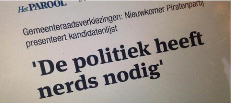 "Spindoctoring: ""modern day politics needs nerds."""